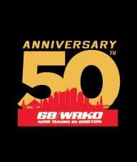 50th Anniv WRKO logo