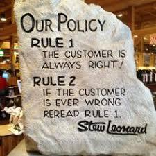Stew Leonard Customer Policy