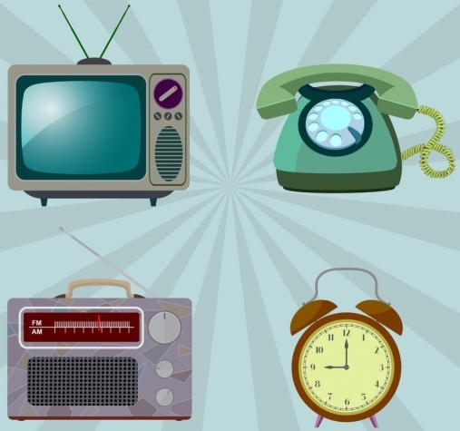 vintage_objects_collection_television_telephone_clock_radio_icons_6833099