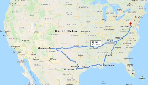 2019 Southern Cross-Country Road Trip