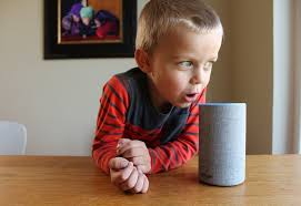 Child using Smart Speaker