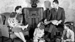 Family Listening to Golden Age of Radio