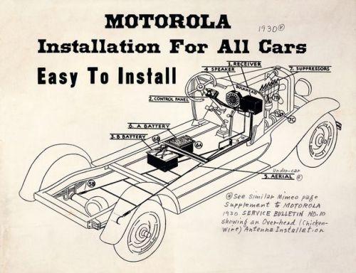 motorola car radio installation
